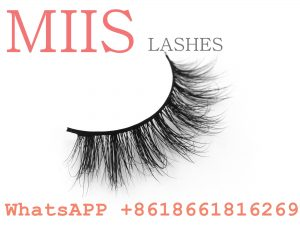 comfortable real mink false 3d eyelashes