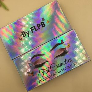 HOLOGRAPHIC COLOR EYELASH PACKAGING BOX